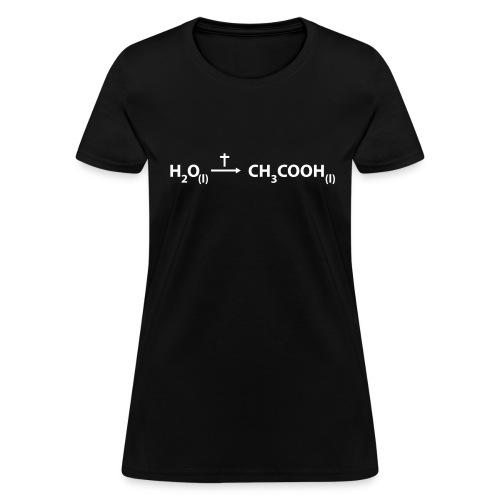 Jesus - water to wine - Women's T-Shirt