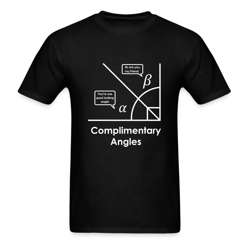 Complimentary angles (pun) - Men's T-Shirt