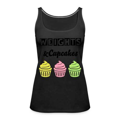 Weights and Cupcakes Women's Tank Top - Women's Premium Tank Top