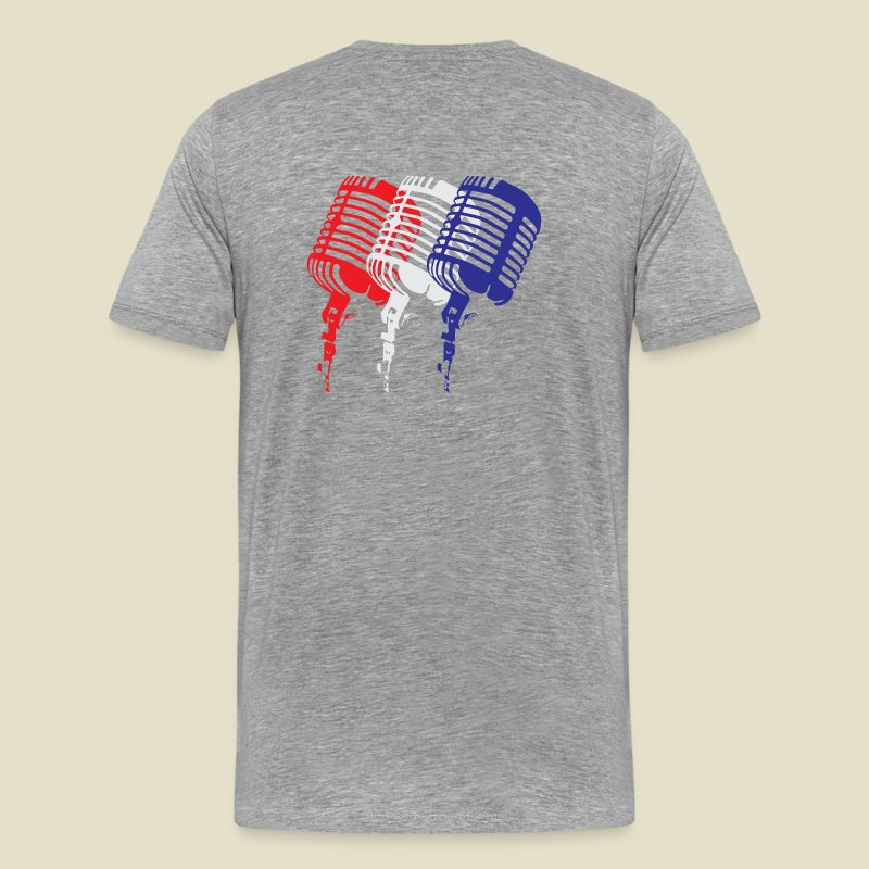 Red, White and Blue Microphones - Men's Premium T-Shirt