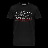 T-Shirts ~ Men's Premium T-Shirt ~ HOME SCHOOL (Multicolor on Black) Version 1