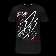 T-Shirts ~ Men's Premium T-Shirt ~ HOME SCHOOL (Multicolor on Black) Version 2