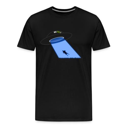 Nerd UFO Abduction - Men's Premium T-Shirt