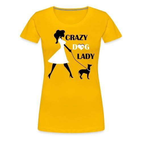 Unique Crazy dog lady T-Shirt - Women's Premium T-Shirt