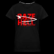 T-Shirts ~ Women's V-Neck T-Shirt ~ RAZE HELL (Multicolor on Black Women's V-Neck) Version 1