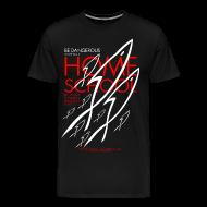 T-Shirts ~ Men's Premium T-Shirt ~ HOME SCHOOL (Multicolor on Black) Version 4