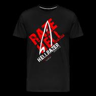 T-Shirts ~ Men's Premium T-Shirt ~ RAZE HELL (Multicolor on Black) Version 2