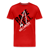 T-Shirts ~ Men's Premium T-Shirt ~ RAZE HELL (Multicolor on Red) Version 2