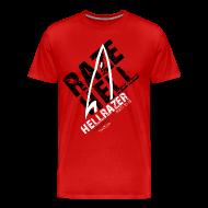 T-Shirts ~ Men's Premium T-Shirt ~ RAZE HELL (Multicolor on Red) Version 2