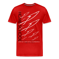 T-Shirts ~ Men's Premium T-Shirt ~ HOME SCHOOL (Multicolor on Red) Version 3