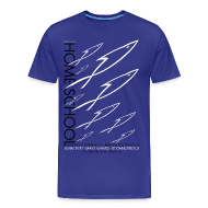 T-Shirts ~ Men's Premium T-Shirt ~ HOME SCHOOL (Multicolor on Blue) Version 3