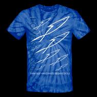 T-Shirts ~ Unisex Tie Dye T-Shirt ~ HOME SCHOOL (Multicolor on Blue Tie Dye) Version 3