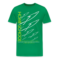 T-Shirts ~ Men's Premium T-Shirt ~ HOME SCHOOL (Multicolor on Green) Version 3