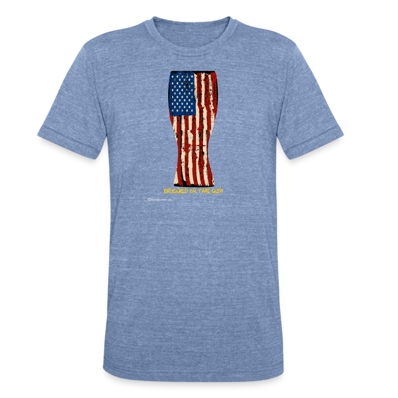 Brewed In The USA Unisex Tri-Blend T-Shirt - Unisex Tri-Blend T-Shirt by American Apparel