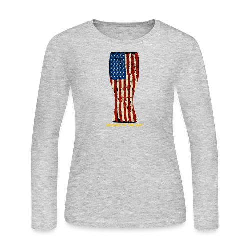 Brewed In The USA Women's Long Sleeve T-Shirt - Women's Long Sleeve Jersey T-Shirt