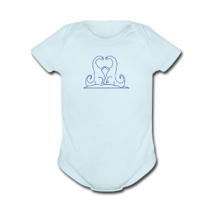 Loving Dinosaurs Onesie - Blue - Short Sleeve Baby Bodysuit