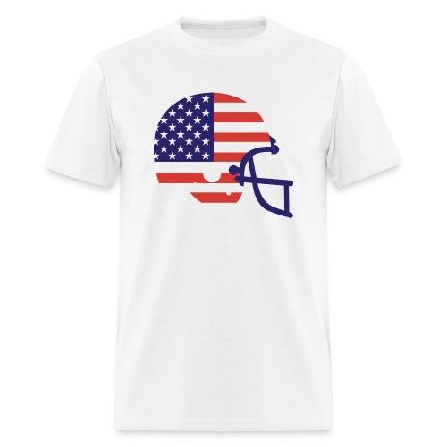 American Flag Helmet - Men's T-Shirt