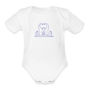 Loving Dinosaurs Onesie - White - Short Sleeve Baby Bodysuit