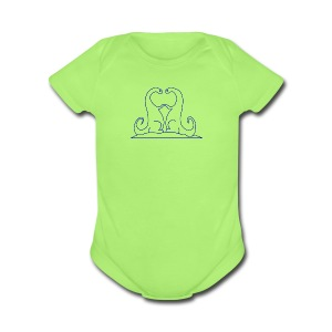 Loving Dinosaurs Onesie - Green - Short Sleeve Baby Bodysuit