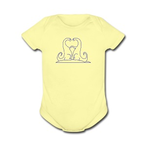 Loving Dinosaurs Onesie - Yellow - Short Sleeve Baby Bodysuit