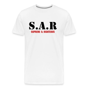 SAR - Supreme & Righteous Men T-SHIRT (2) - Men's Premium T-Shirt
