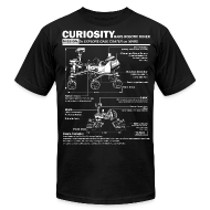 T-Shirts ~ Men's T-Shirt by American Apparel ~ Curiosity Mars Rover