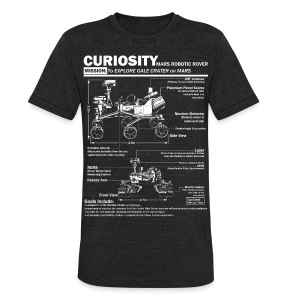 Curiosity Mars Rover - Unisex Tri-Blend T-Shirt by American Apparel