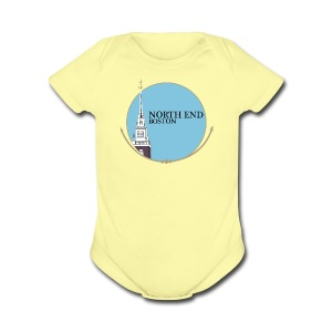 North End Boston - Short Sleeve Baby Bodysuit