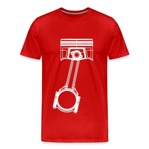 Piston White Mens Shirt - Men's Premium T-Shirt