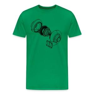 Exploded Turbo Black Mens Shirt - Men's Premium T-Shirt