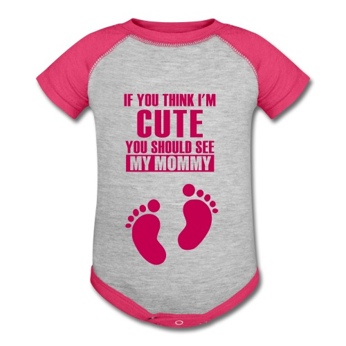 Baby shirt for girls - Baby Contrast One Piece
