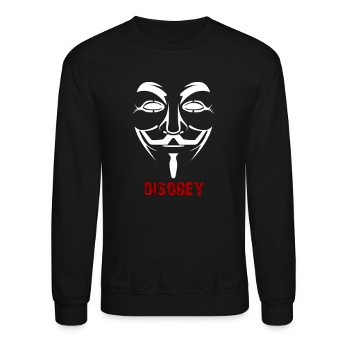 Anonymous Disobey Red - MEN - Crewneck Sweatshirt