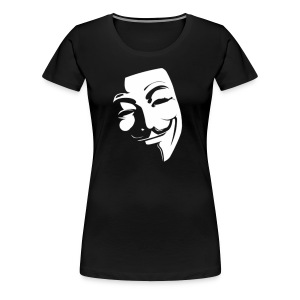 Anonymous Face Black White - WOMEN - Women's Premium T-Shirt