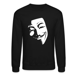 Anonymous Face Black White - MEN - Crewneck Sweatshirt