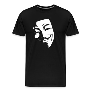 Anonymous Face Black White - MEN - Men's Premium T-Shirt