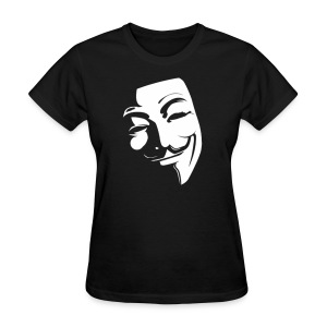 Anonymous Face Black White - WOMEN - Women's T-Shirt