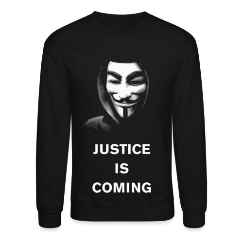 Anonymous - Justice Is Coming - MEN - Crewneck Sweatshirt