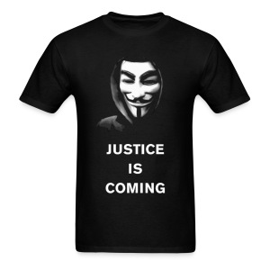 Anonymous - Justice Is Coming - MEN - Men's T-Shirt