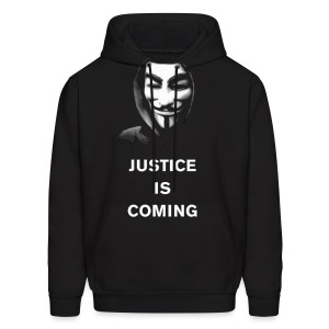 Anonymous - Justice Is Coming - MEN - Men's Hoodie