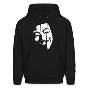 Anonymous Face Black White - MEN - Men's Hoodie