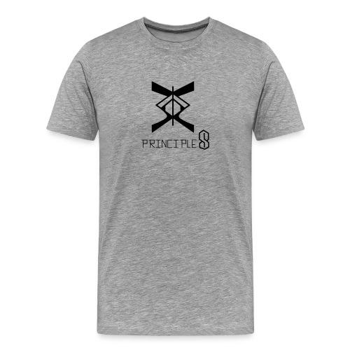 MEN White/Blue logo- (PALMER) - Men's Premium T-Shirt