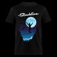 T-Shirts ~ Men's T-Shirt ~ Slack line in the moonlight