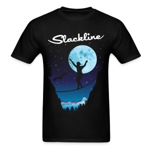 Slack line in the moonlight - Men's T-Shirt
