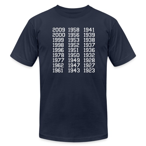 27 Championships in Pinstripes - Men's Fine Jersey T-Shirt