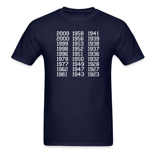 27 Championships in Pinstripes - Men's T-Shirt
