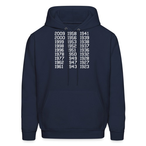 27 Championships in Pinstripes - Men's Hoodie