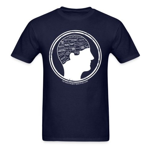 Phrenology Beer Head - Men's T-Shirt