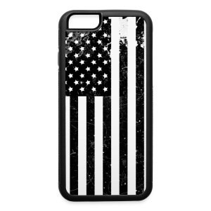 Black and White Flag - iPhone 6/6s Rubber Case