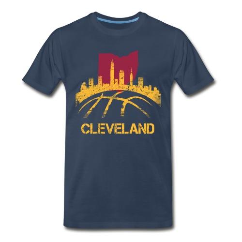 CLE BBall tee - navy  - Men's Premium T-Shirt