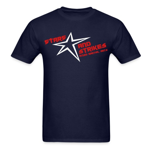 Stars and Strikes MMA navy with classic logo - Men's T-Shirt